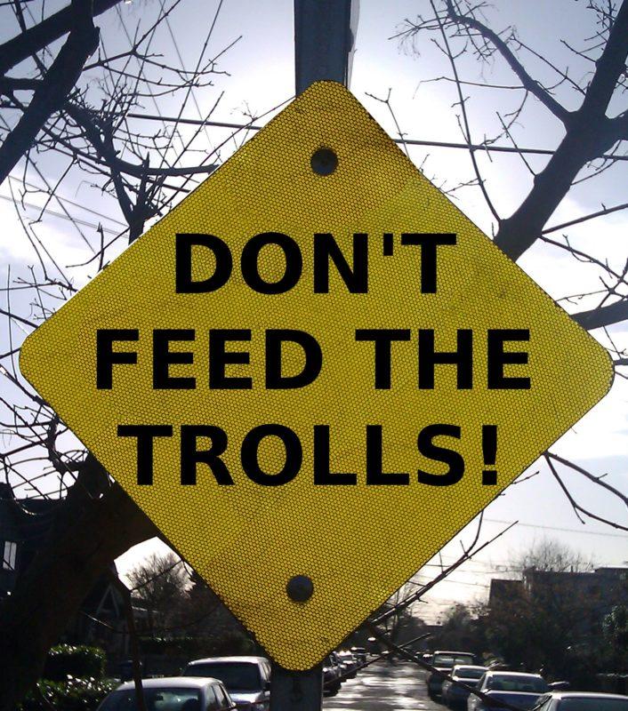 feed the trolls