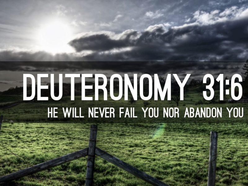 deuteronomy 31 6
